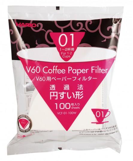Filtres papier pour V60 - Hario | Les Cafés Félix