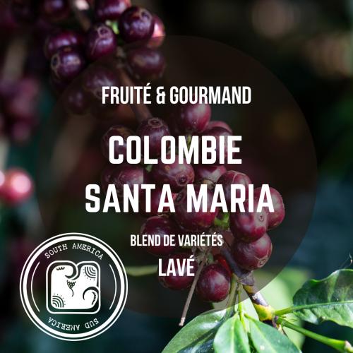 Café de Colombie - Santa Maria, arabica lavé